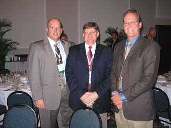 Bob Schafer, Doug Smith and Andy Jones were among the attendees at the annual convention of the American Road and Transportation Builders Association.